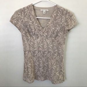 Banana Republic lace v-neck blouse